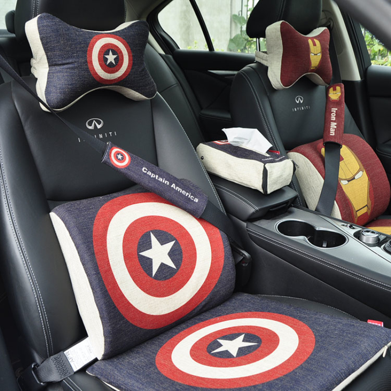 Cartoon Super Hero Car Seat Pillow For The Neck Rest Support Headrest Travel Soft Pillows Cars Cushion Vehicle Space Memory Foam In From