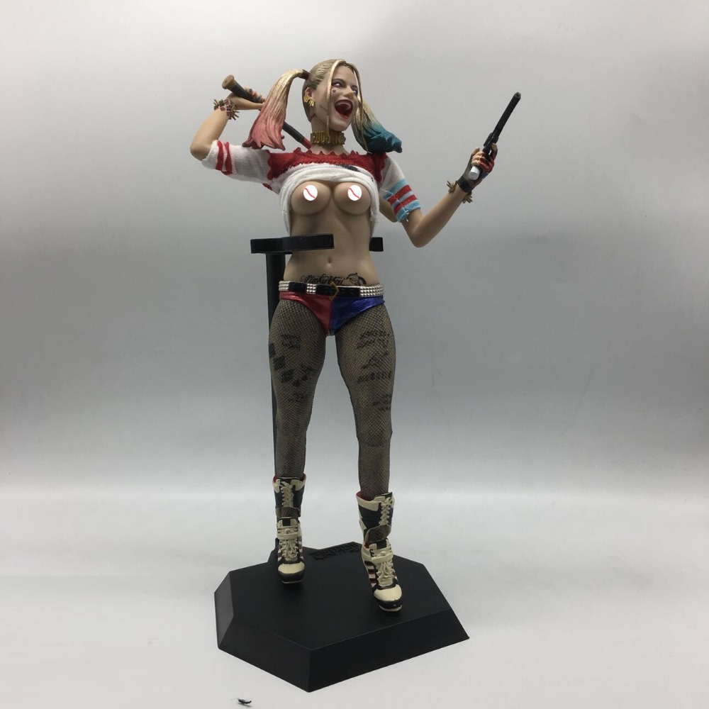 1//6TH Figure Real Clothes PVC Statue DC Crazy Toys Suicide Squad Harley Quinn
