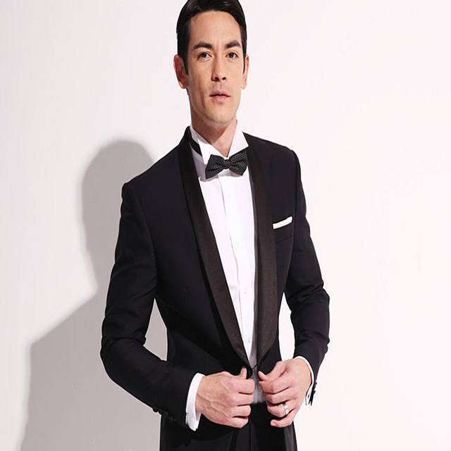 Morning Suits Mens Suits Black Wedding Suits For Men Satin Shawl ...