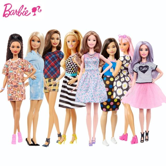 original barbie doll fbr37 barbie doll fashionista girl chirstmas toy dvx78 barbie princess kids birthday gift - Barbie