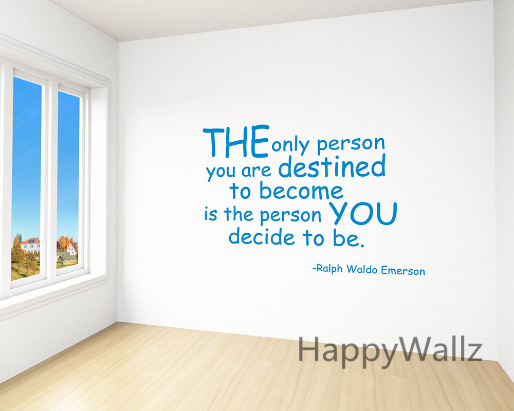 compare prices on quotes wall decals online shopping buy low the person you decide to be motivational quote wall sticker inspirational quote wall decal diy decorative