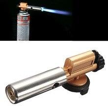 Encendido electrónico Antorcha Encendedor de Butano de La Llama Del Quemador De Gas Fabricante De la Pistola de Cobre Nuevo