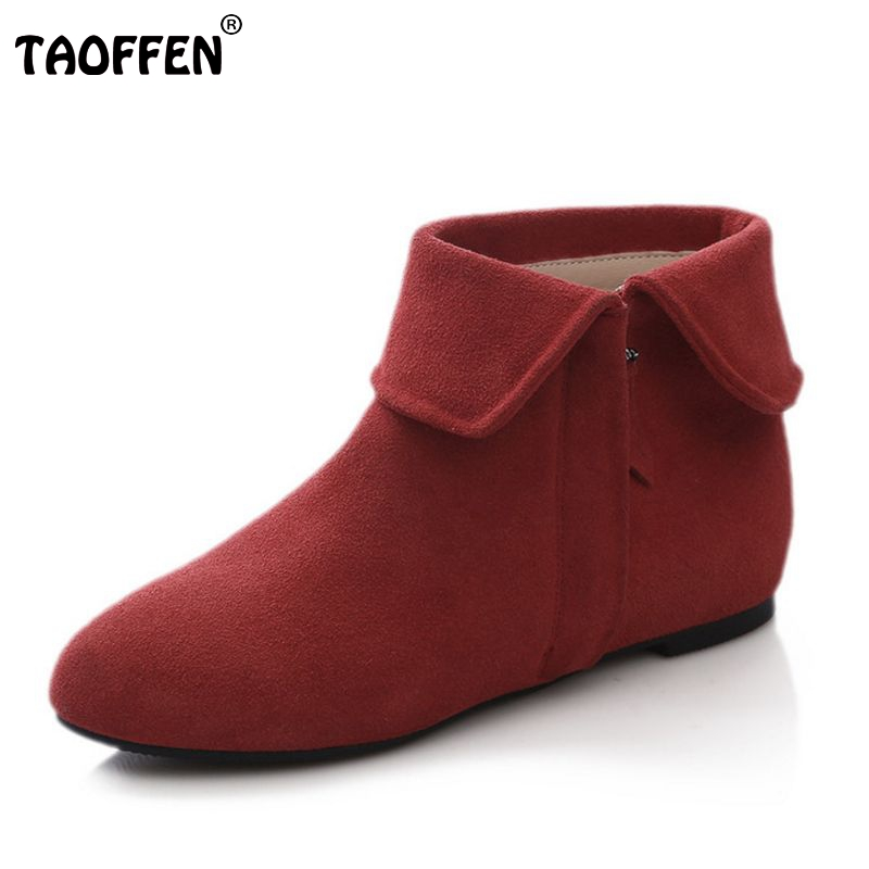 size 33-43 women real natrual genuine leather flat short ankle boots snow winter botas footwear warm boot shoes R7416 2017 cow suede genuine leather female boots all season winter short plush to keep warm ankle boot solid snow boot bota feminina