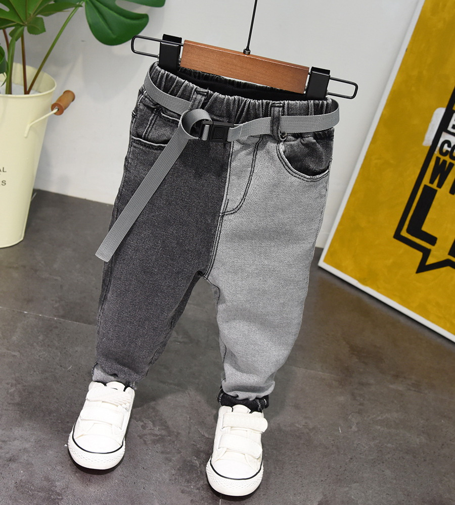 Autumn Spring Baby Boys Jeans Pants Kids Clothes Cotton Casual Children Trousers Teenager Denim Boys Clothes 2-7Year