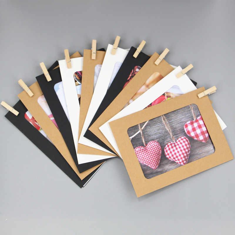 10 stks/set Papier Fotolijst Clips DIY Craft Speelgoed voor Kinderen 'S Combinatie Frames 6 inch Opknoping Muur Foto voor Familie