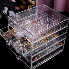 Manicure Ornament Drawer Removable Acrylic Transparent Desktop Storage Box #30(China)