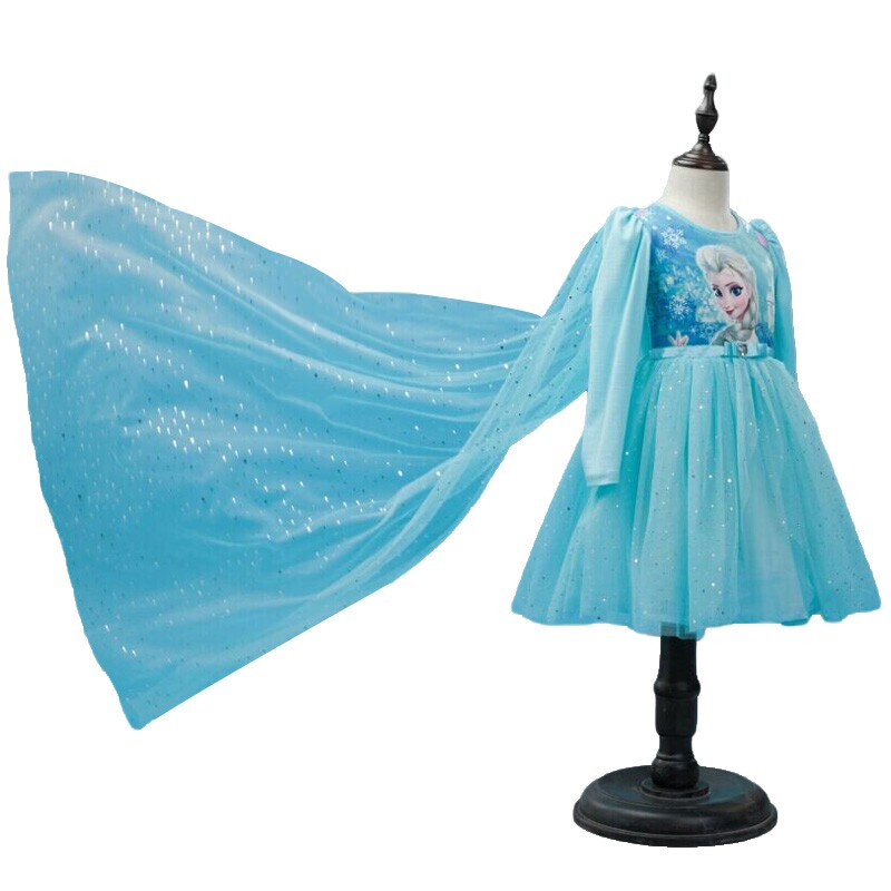 Winter Girl Dresses Baby Kids Girls Clothes Children Clothing Baby Cute Princess Party Costume Anna Elsa Dress Causal Vestidos