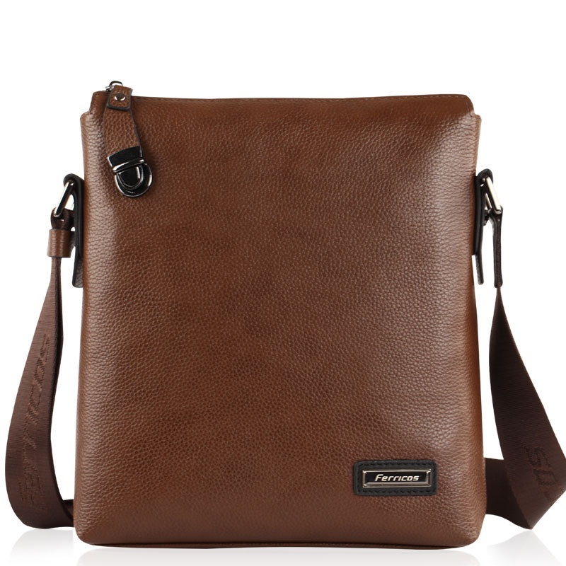 2018 New Handbags First layer Genuine Leather Business Solid Single Shoulder Bag Money Bag Messenger Bag Men Casual Clutch bag bag female new genuine leather handbags first layer of leather shoulder bag korean zipper small square bag mobile messenger bags