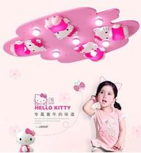 Hello Kitty Милые Девушки Спальня Потолочные Светильники Розовый Цвет Милые Девушки Украшения Комнаты Принцесса СВЕТОДИОДНЫЙ Потолочный Свет для Поверхностного монтажа