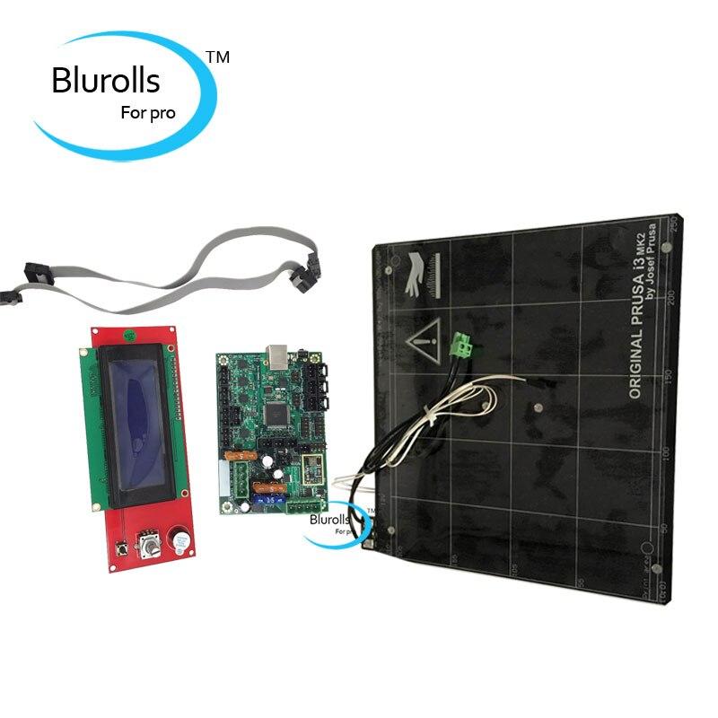 Reprap Prusa i3 MK2 3d printer mini Rambo 1 3a motherboard kit and aluminum heated bed