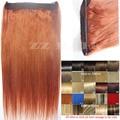 """16 """"-32"""" 100% Cabelo Remy Brasileiro Flip Em/no Cabelo Humano Extensões de cabelo de halo #130 80g-220g 1 pcs Set"""