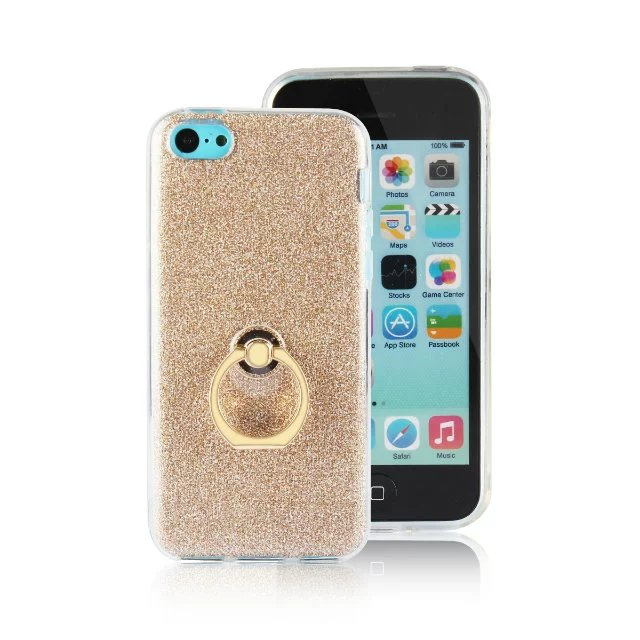 Hot Sale Glitter Stickers Ring Buckle Bracket Case For