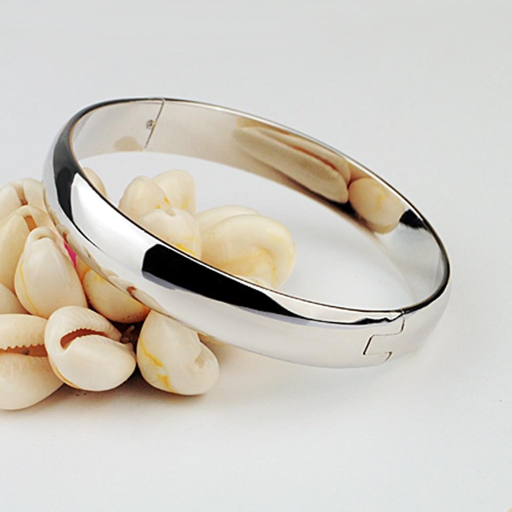 Nuevo 100% 925 Pulsera de plata Mujer Pulsera redonda brillante - Bisutería - foto 4