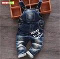 Бесплатная доставка 2017 весна осень Ребенок нагрудник ребенок мужского пола джинсовой нагрудник младенческой комбинезон детская одежда