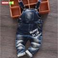Free shipping 2017 spring autumn Baby bib male  child denim bib infant jumpsuit children's clothing