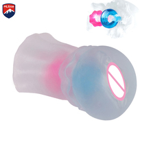 MLSice Crystal Clear Portable Pussy Sucking Virgin with  Ring Sex Toys for Men Masturbatings Male Masturbator Real Vaginal For