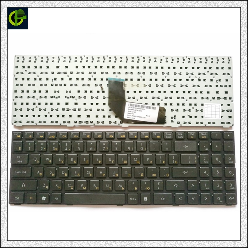 Russian Keyboard For DNS Twc-n13p-gs 0165295 0155959 0158645 MP-09R63RU-920 AETWCU0010 RU Black Keyboard