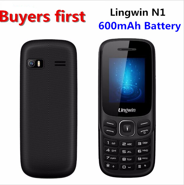 Original Lingwin N1 1 77 Inch 32MB 32MB SC6513DA GSM Dual SIM Cell Phone MP4 Flashlight