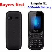 Оригинальный lingwin N1 1.77 дюймов 32 МБ + 32 МБ SC6513DA GSM Dual Sim сотовый телефон MP4 фонарик мобильный телефон может добавить Русская клавиатура