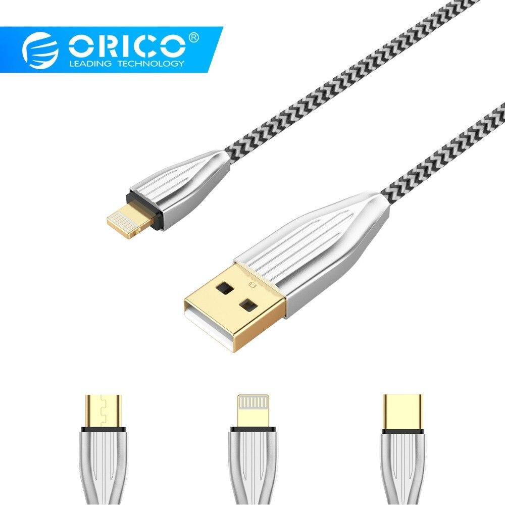 Handys & Telekommunikation Erfinderisch Orico Ktm1 Usb Kabel Geflochtene Tragbare Kabel Lade Für Handy 2.1a Schnelle Lade Datenkabel Für Iphone Tablet