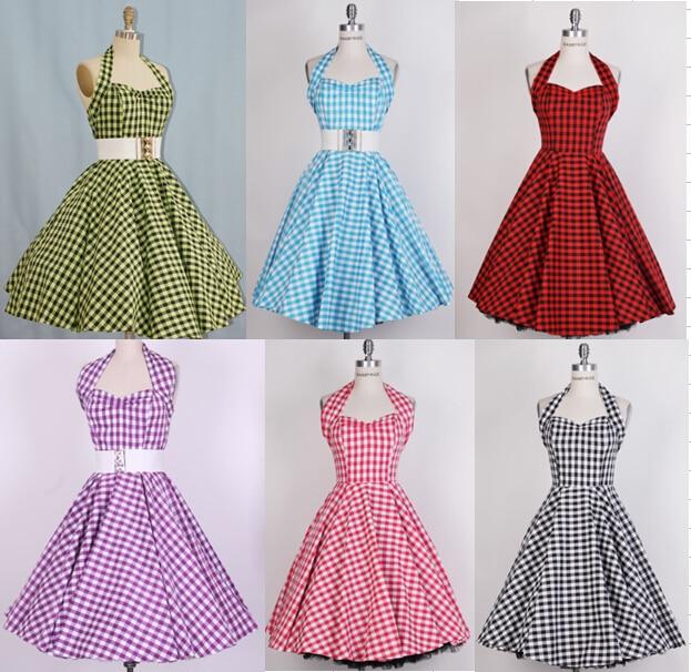 1950s pinup audrey Hepburn retro vintage rockabilly women\'s Classy ...