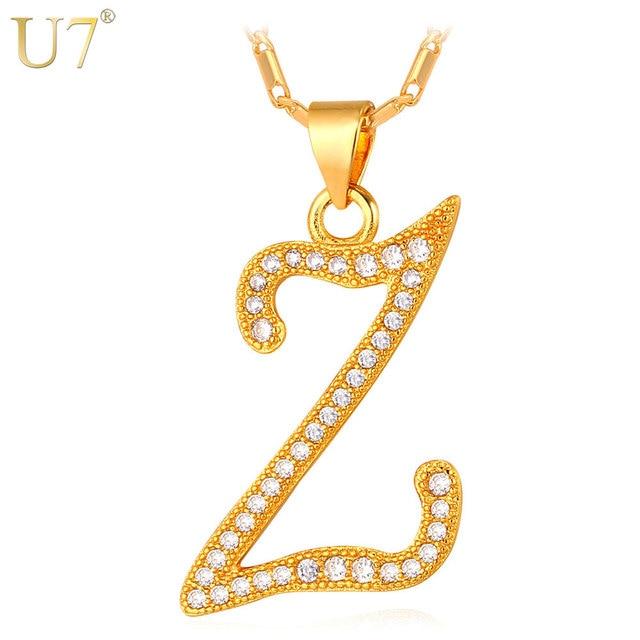 U7 Fashion Jewelry Z Letter Cu...