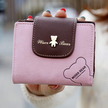 2017 Hot Selling! Women Cute Bear Short Wallet Mini Change Purse Hasp Cartoon Money Bag For Girl Nice Gift for Lady Clutch(China)