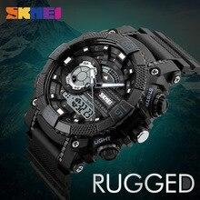 SKMEI Men Sports Watches Digital Quartz Watch LED Big Dial 50M Waterproof Dual Display Wristwatches Relogio Masculino 1228