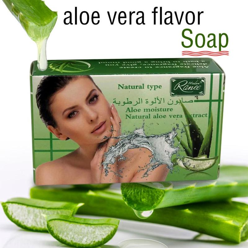 Natural Aloe Bathing Soap Body Cleaner Skin Care Makeup Remover Whitening Moisturizing Face Wash Deep Cleansing Soaps Dropship