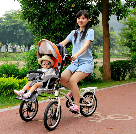 Maternal and infant car filial mother and child car double tricycle folding the stroller