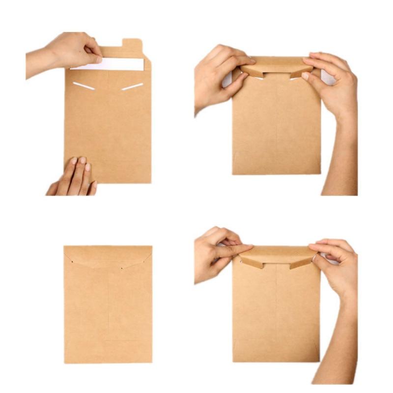 20pcs Kraft Envelope Bag A4 A5 Paper School File Organizer Holder Document Filing Products Organize Briefcase Folders Executive
