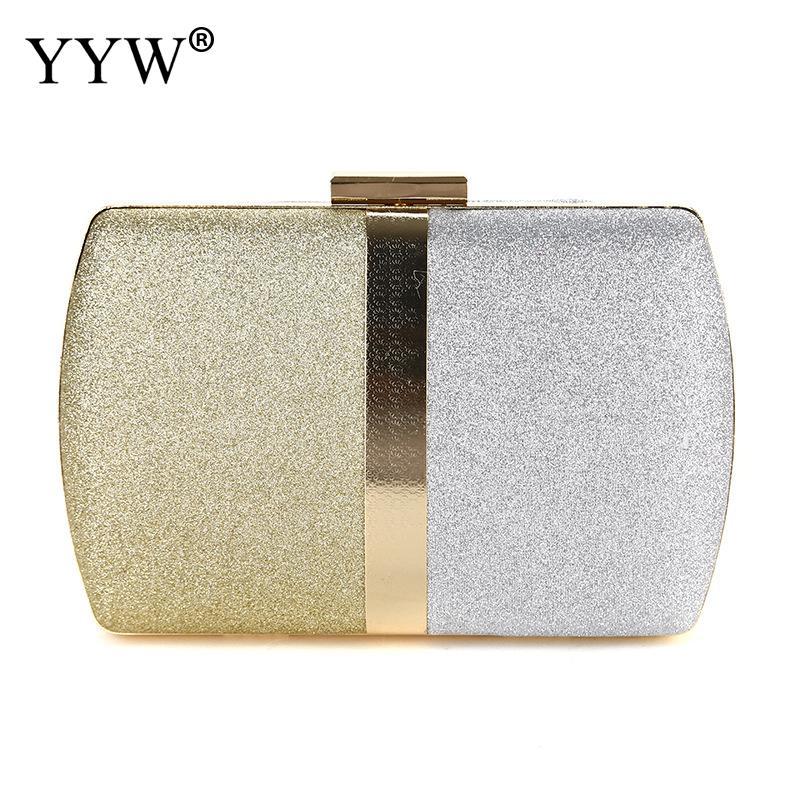 YYW Woman Evening Bag Women Gold Gillter Clutch Handbag Chain Shoulder Small Purse Elegant Wedding Purse Party Evening Bags New