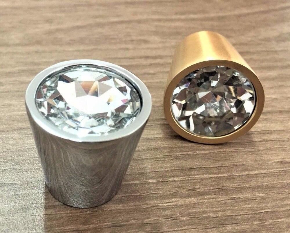 glass crystal knobs gold dresser knob drawer handles rhinestone cabinet knobs furniture hardware