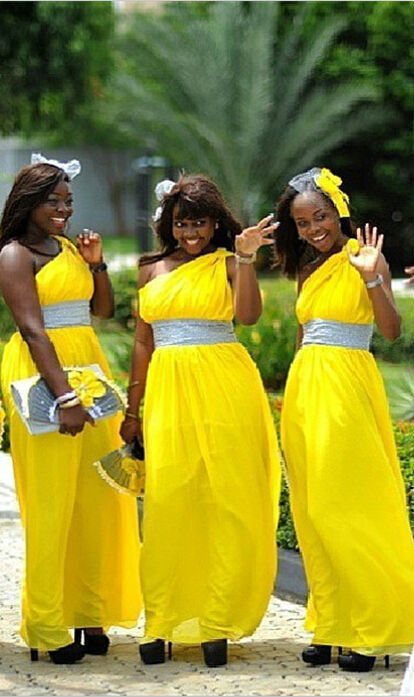 Aliexpress.com : Buy 2015 Cheap Yellow Bridesmaid Dresses One ...