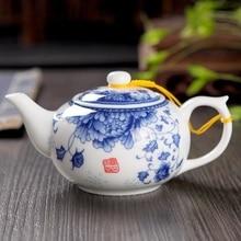 Ceramic travel office Tea set single teapot,Blue and white porcelain tea pot 220ml