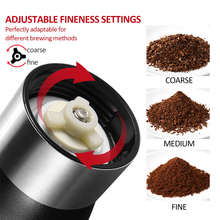 Portable Manual Coffee Grinder Conical Ceramic Burr Grinder For Home Office Travelling Washable Coffee Mill Easy Cleaning