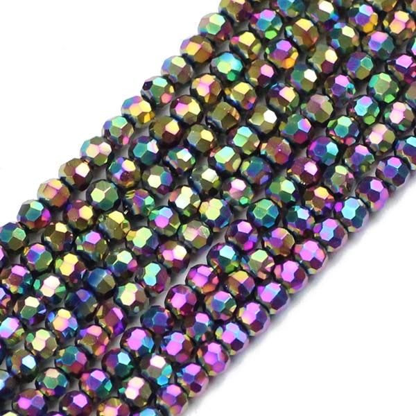 JHNBY, футбольные граненые Австрийские кристаллы, 200 шт, 3 мм, цветные круглые бусины, ювелирные изделия, браслет, аксессуары, сделай сам - Цвет: QZ3104 Multicolor