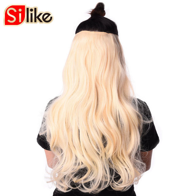 Silike 190g wavy clip in hair extensions blonde 24 inch 17 colors silike 190g wavy clip in hair extensions blonde 24 inch 17 colors available synthetic heat resistant pmusecretfo Gallery