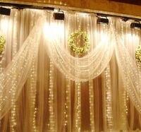 8*4 м 1024 светодиодные лампы гирлянда света Шторы Гирлянды светодиодные огни Рождество Праздничное освещение свадебные Шторы огни украшения