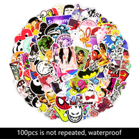 100pcs for laptop refrigerator suitcase mobile phone stickers do not repeat laptop stickers Vinyl Sticker for macbook xiaomi