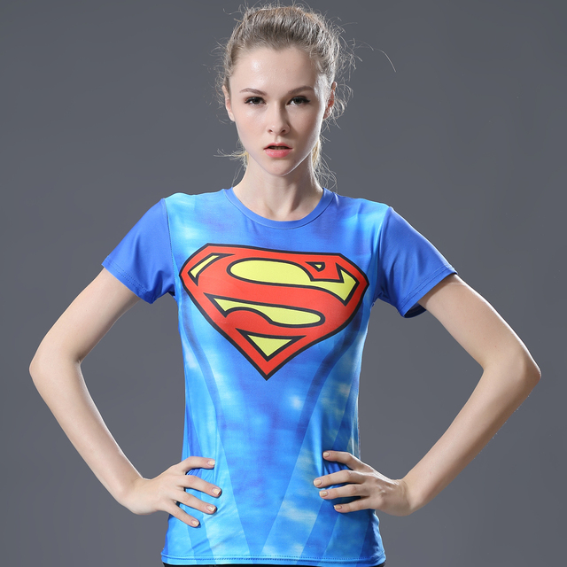 fea71311e Devin Du Compression T-shirt tight future is superwoman short sleeve summer  slimming quick dry fitness T-shirt