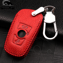 Genuine Leather Car Key Case Cover for BMW 520 525 f30 f10 F18 118i 320i 1 3 5 7 Series X3 X4 m3 M4 M5 Protective Car Key Shell car key case cover for bmw 520 525 f30 f10 f18 118i 320i 1 3 5 7 series x3 x4 m3 m4 m5 car styling alloy protection key shell