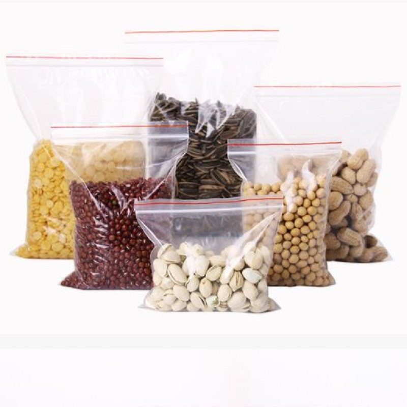 100PC 5X7CM Reusable Ziplock Bag Food Packaging Bag Smell Proof Bags Clear Plastic Bag Food Wrap Plastic Wrap Food Pouch in Saran Wrap Plastic Bags from Home Garden