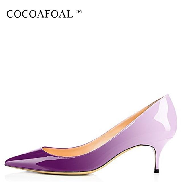 COCOAFOAL Vrouw Hakken Luipaard Schoenen Big Size 43 44 Party Sexy Paars Schoenen Blauw Wit Groen Roze Stiletto Wedding Bridal schoenen
