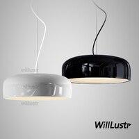 Willlustr Aluminium Hanglamp Suspension Verlichting Eetkamer Woonkamer Slaapkamer Hotel Bar Licht Pan 35 Cm 48 Cm 60 Cm wit Zwart