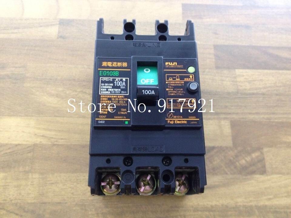 [ZOB] Fuji EG103B 3P100A leakage switch AC100-200-415V (guarantee original authentic) заточной станок rezer eg 200 c