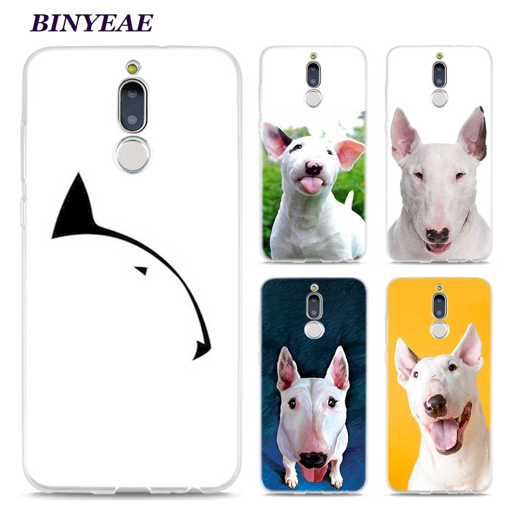 BINYEAE Bullterrier bull terrier Style Clear Soft TPU Phone Cases for Huawei Mate 10 9 S 10Pro P8 P9 P10 Lite 2017 Mini