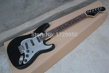 Chinese Factory font b musical b font Instruments Custom NEW ST big headstock Electric Guitar BLACK