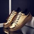 EOFK кроссовки женские обувь Плоские Туфли На Платформе Моды Повседневная Обувь Лакированная Кожа Дизайнер туфли женские кросовки женские высокие кеды Золото Браун