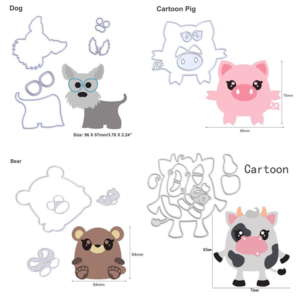 Petit Mignon Cartoon Chats métal Découpe